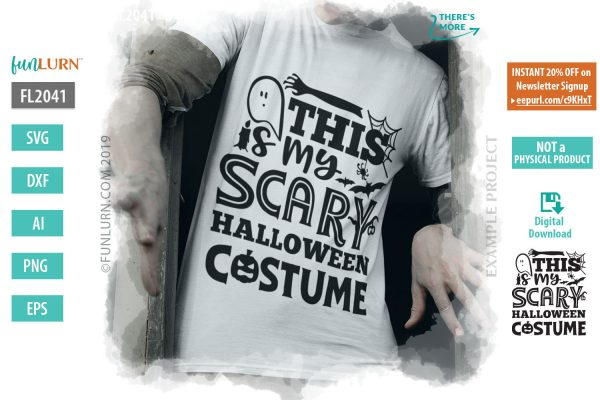 This is my scary Halloween costume
