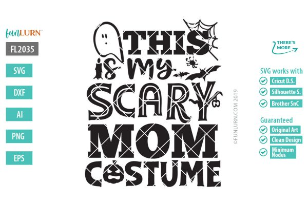 This is my scary mom costume