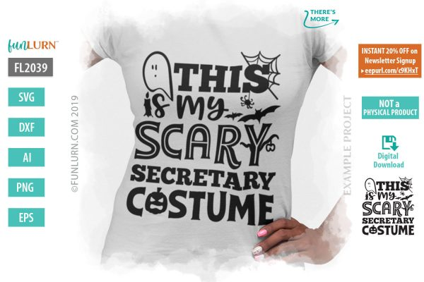 This is my scary secretary costume