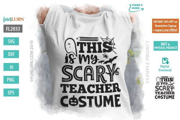 This is my scary teacher costume