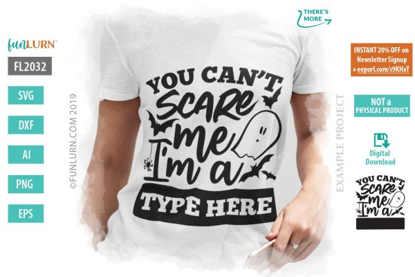 You cant scare me I am a blank