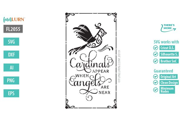 Cardinals appear where angels are near