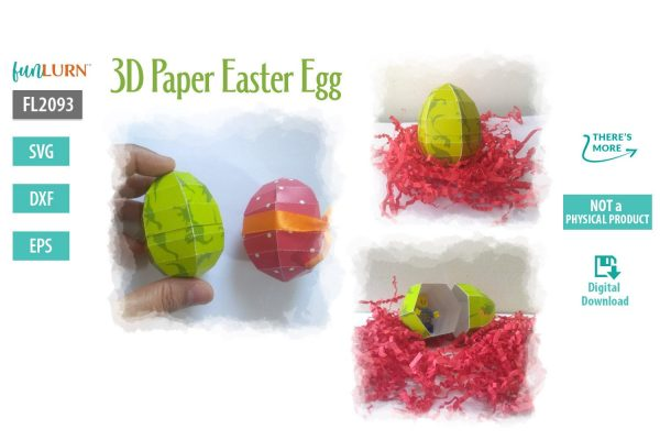 3D Paper Easter Egg SVG