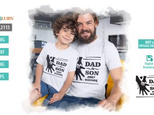 Dad and Son Best Buddies SVG