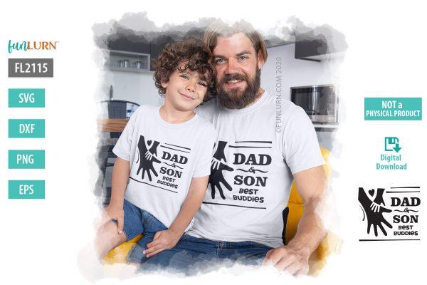 Dad and Son Best Buddies SVG
