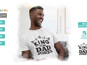 King of the Dad jokes SVG