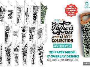 Saw Paper Model SVG