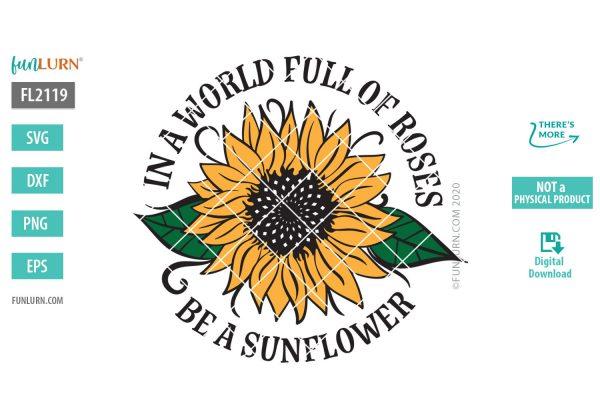Be a sunflower SVG