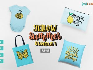 Free summer SVG Bundle which includes Squeeze the day svg, Summer is a state of mind svg, Bee cool svg, and Beach please svg