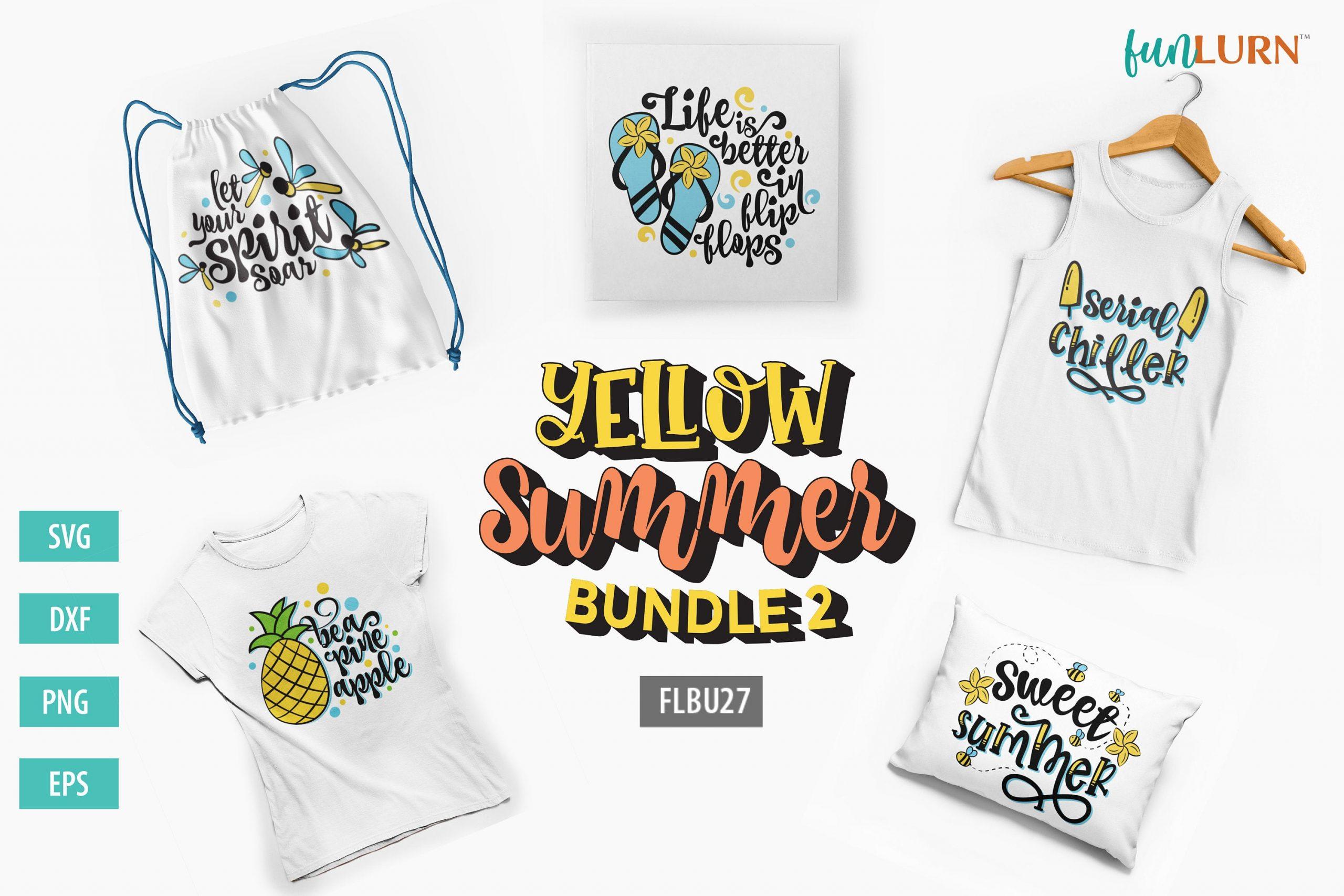 Yellow Summer Svg Bundle 2 Funlurn