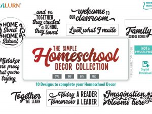 Homeschool decor svg