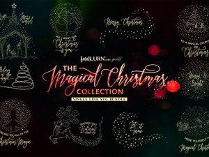 Single Line SVG for Christmas
